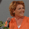 Heitkamp bids farewell to Senate – video