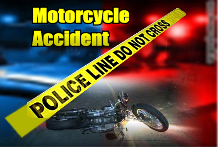 Motorcycle crash after high speed pursuit