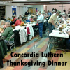Large turnout, Concordia Church Thanksgiving Dinner