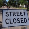 Street closure, Wed Aug 24