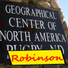 "Robinson claims ""Center of North America"""