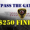 Motorist: Ignoring interstate snow gates, $250 fine