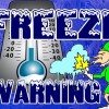 Freeze Warning Until 11-a.m. Friday morning