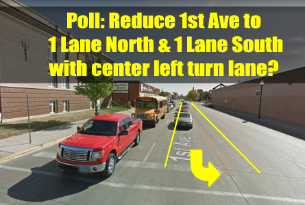 First Ave Road Diet Plan Polls & Video