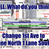Put 1st Ave on a road diet? Poll – Pixs – Video
