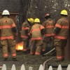 Yard fire Monday evening in NW Jamestown