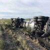 Tanker rollover near Oakes, Friday, spills fuel