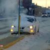 Car slides against Quiet Zone divider