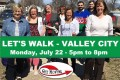 Let's Walk Valley City Monday July 22