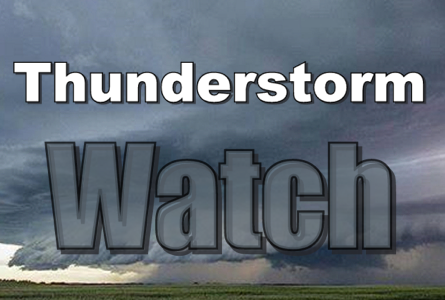 Severe Thunderstorm Watch Till 12am Tues