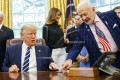 Trump meets with Aldrin, Collins, Armstrong family