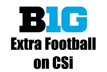 Big Ten Football Sat Sept 18 on CSi TV