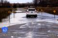 Water over roadway near Spiritwood Lake