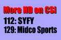 SYFY HD on CSi 112 & Midco Sports HD CSi 129
