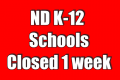 ND Governor closes K-12 schools for 1 week