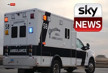 Jamestown, ND Story on U.K.'s Sky News