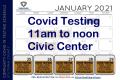 Covid Testing Jamestown 11 to noon Jan 25-29