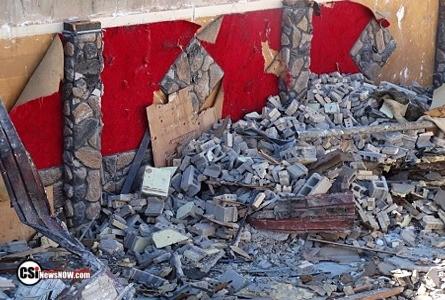Former Eagles Club building demolition continues