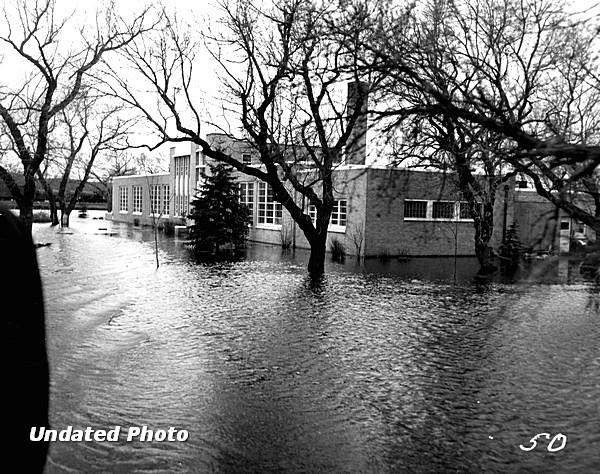 Undated flood photo - Anne Carlsen Center