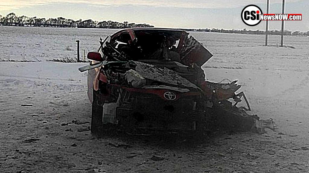Head-on crash on Hwy 281 near Edgeley
