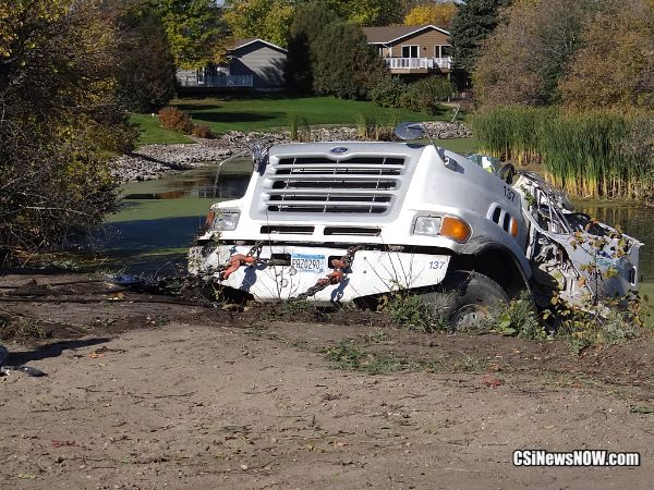 Truck pulled from river - More CSiNewsNow.com photos @ Facebook