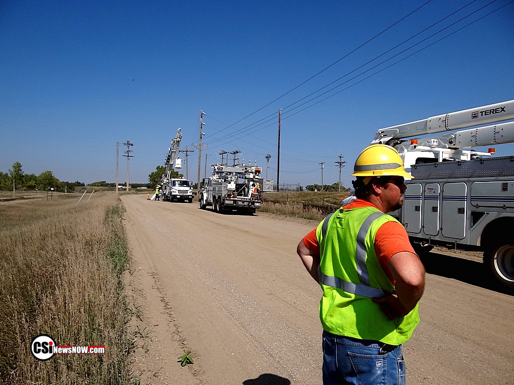 Ottertail working on repairs near NW substation
