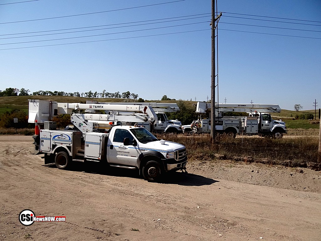 Power Outage repairs in Jamestown   Photos by CSi