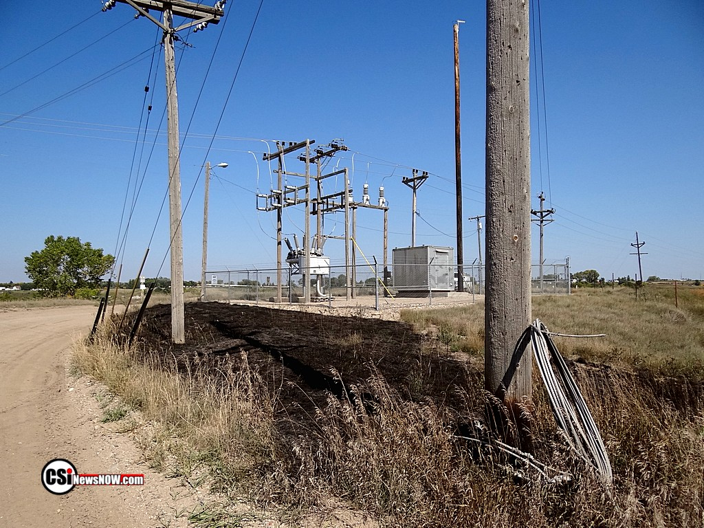 Repairs extended west to substation area.  Photos by CSi