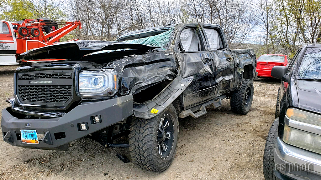 Truck after hauled away