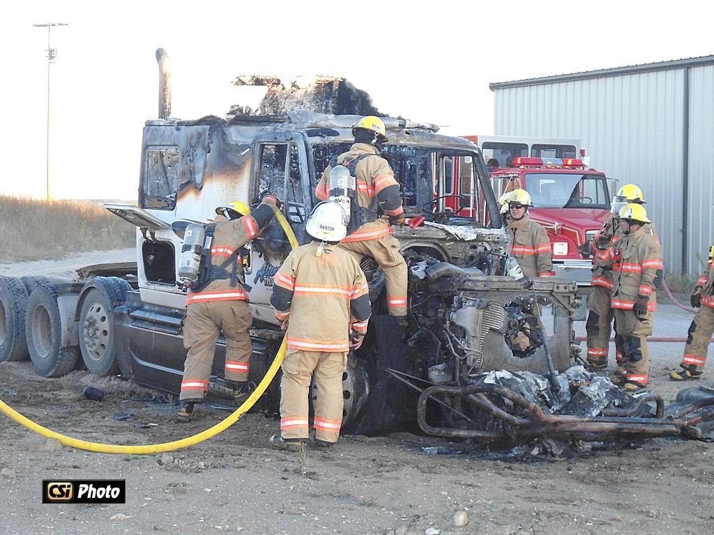 Semi Fire at Altendorf Trucking  CSi Photo