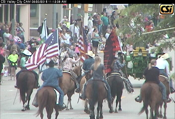 Images from CSi Downtown CAM of Rally In The Valley Parade June 20, 2015