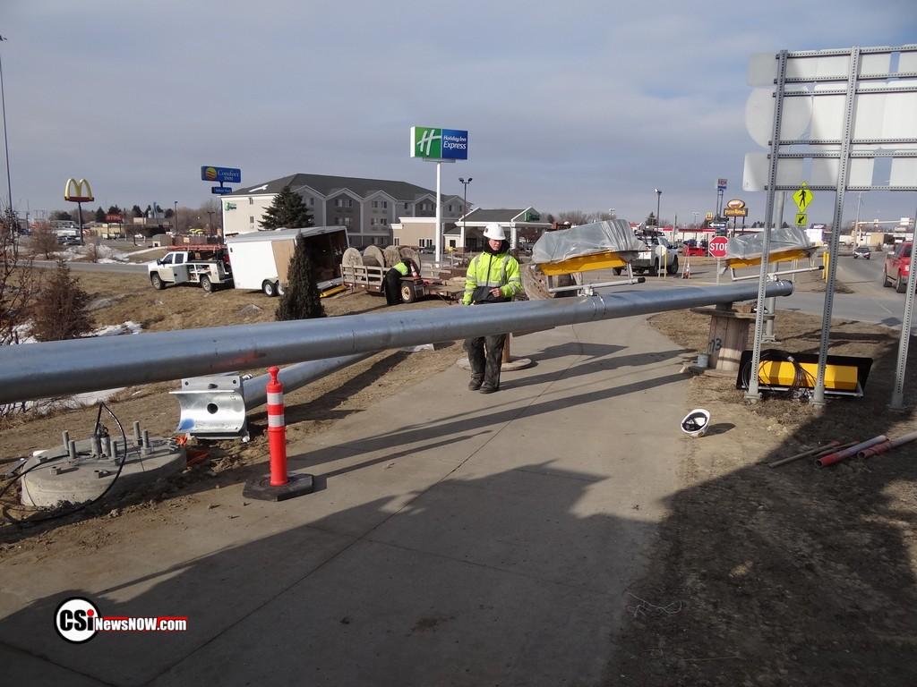 Traffic light installation work Hwy 281S & I-94  CSi photo