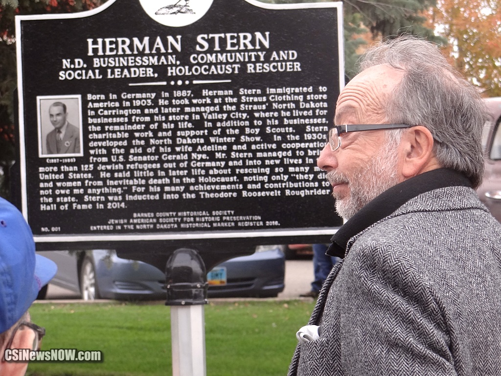 Rick Stern, grandson of Herman, looks on - CSi Photo - more at Facebook
