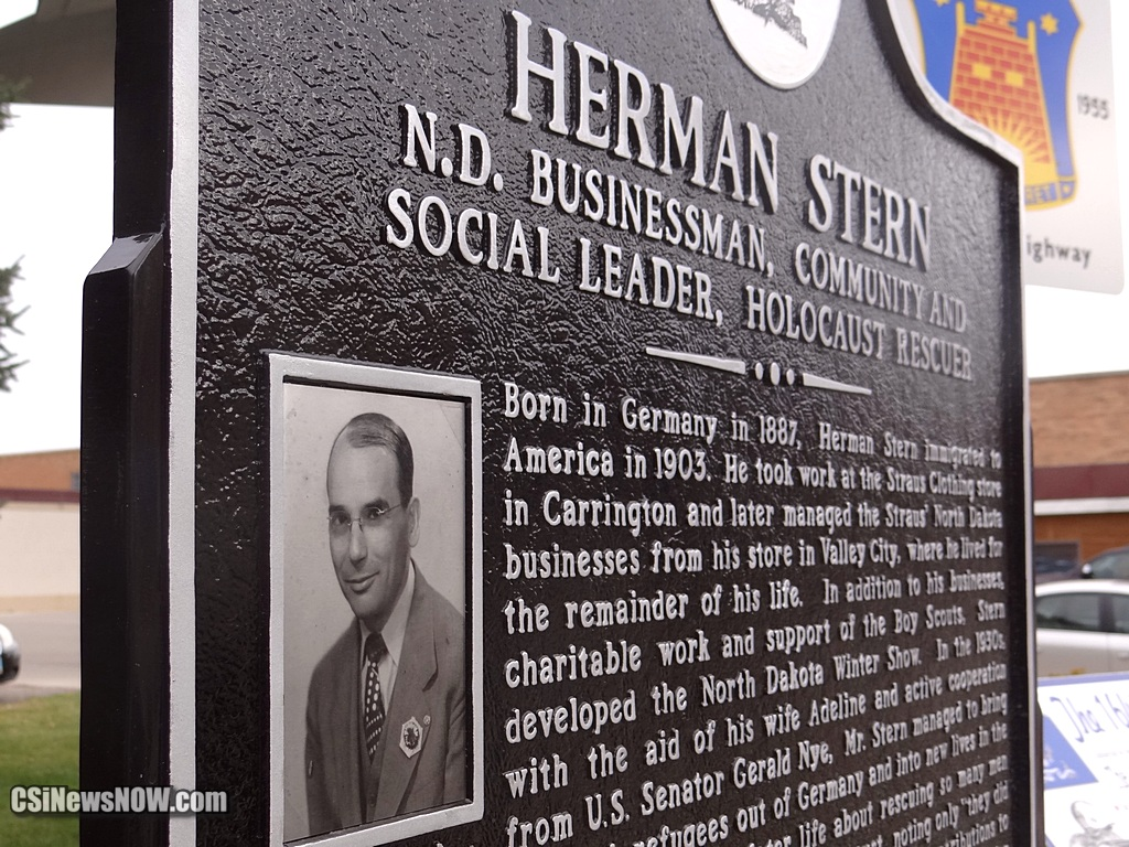 Herman Stern Historical Marker dedication - Valley City, ND  - CSi photos - more at Facebook