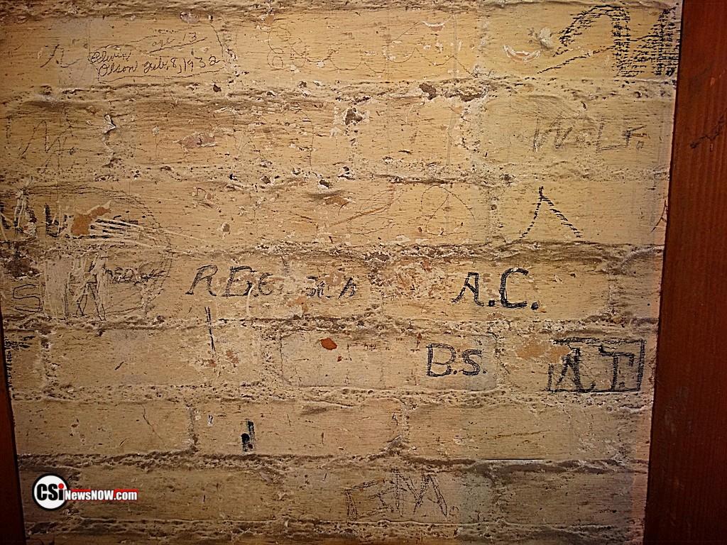 Basement wall writings.        CSiphoto