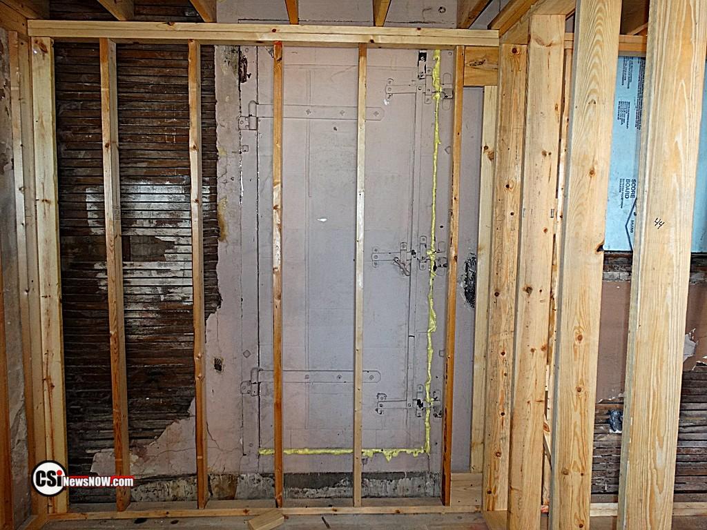 Old door in basement.     CSiphoto