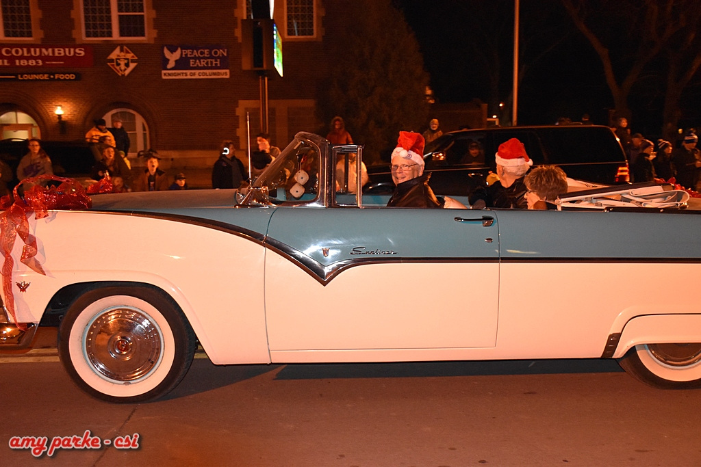 Holiday Dazzle Parade 2016 Grand Marshalls Charlie & Marge Kourajian with driver Casey Stoudt