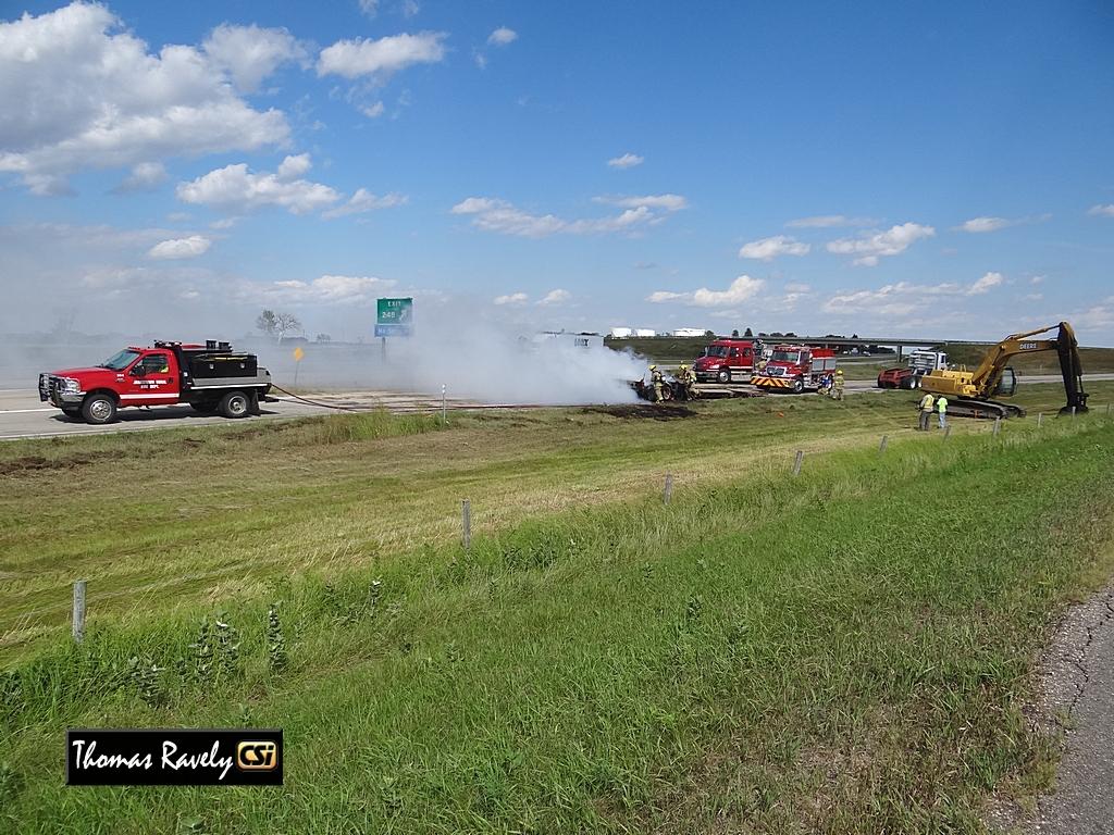 I-94 Semi Fire     CSi Photo.
