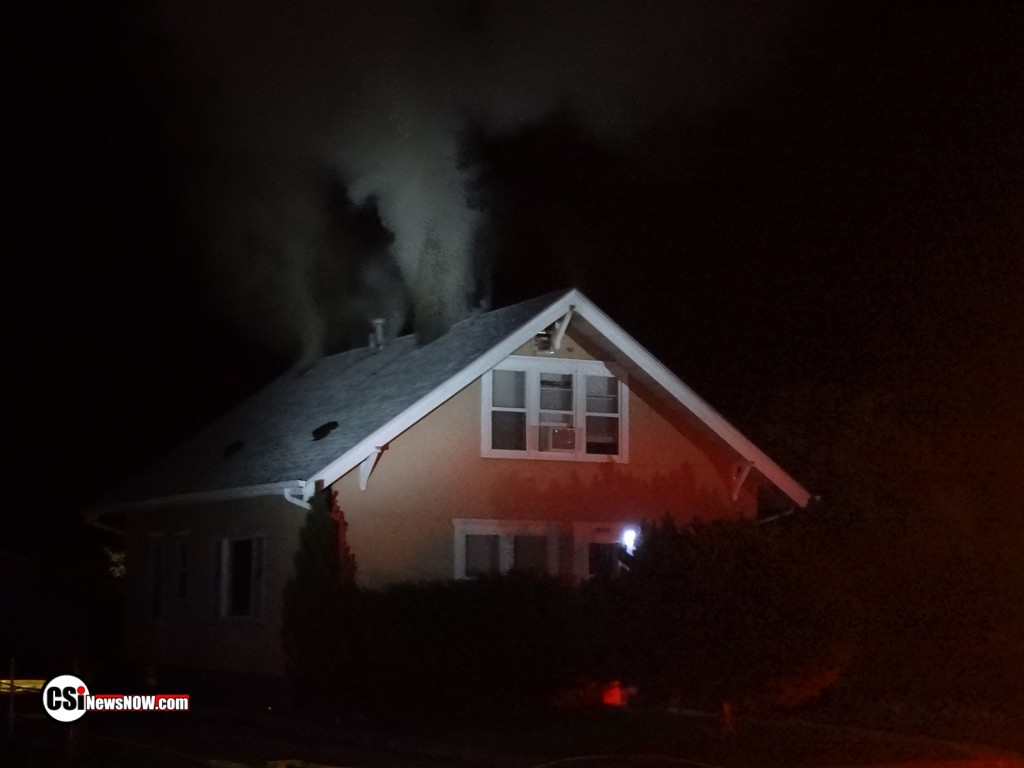 House Fire Thursday evening SE Jamestown   CSi photo