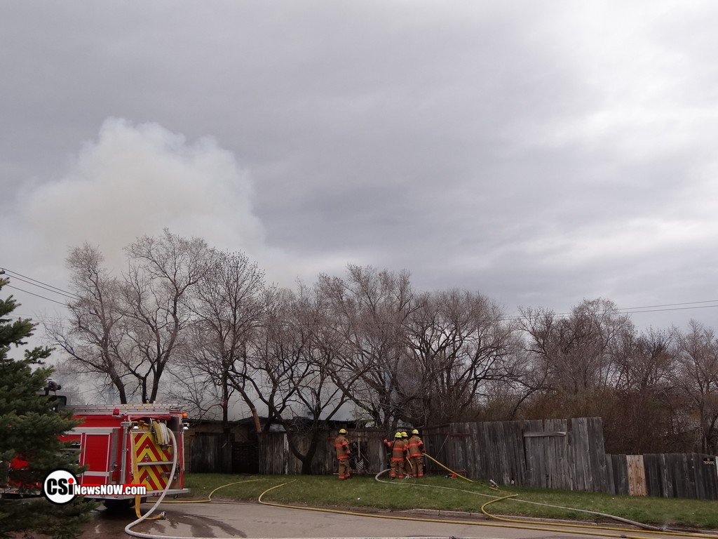 Shed fire 11st Street Southeast, and 13th Avenue Southeast CSi photo
