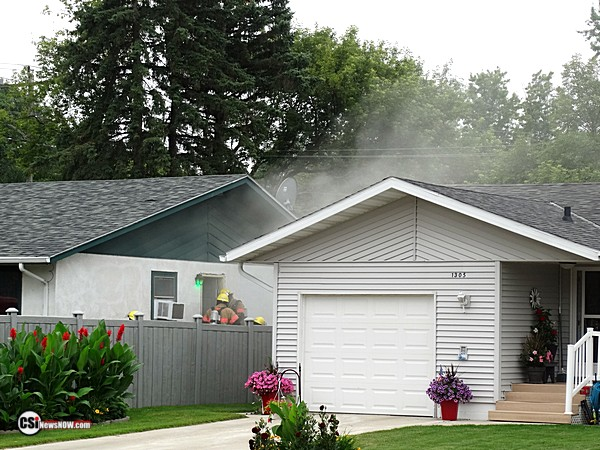 Smoke filled house in NW     CSi Photo