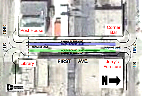Proposed 1st Ave from 3rd St S to 2nd St S