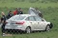 Car crashes thru fence, airport property, Mon. a.m.